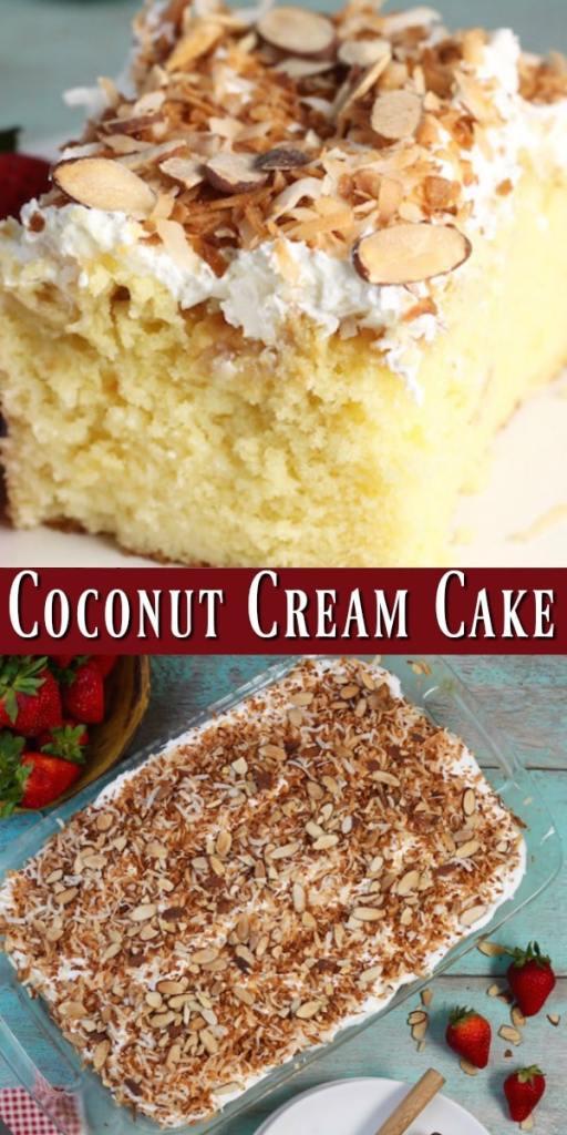 Coconut Cream Cake Photo Collage