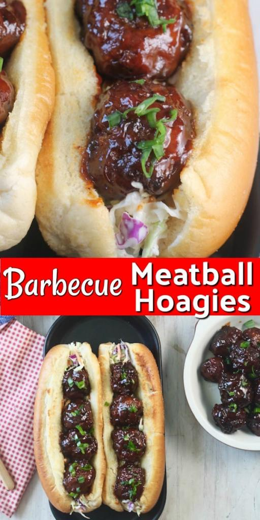 The Best Barbecue Meatball Hoagies Recipe
