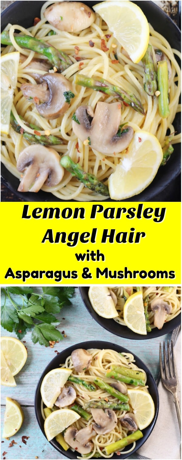 Lemon Parsley Angel Hair photo collage