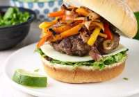 Fajita burger for burger month