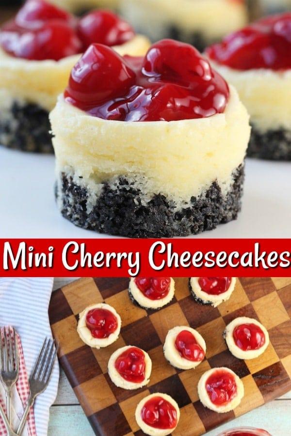 Mini Cherry Cheesecakes Dessert Recipe
