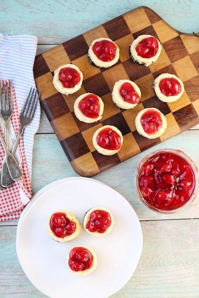 Mini Cherry Cheesecakes Desserts