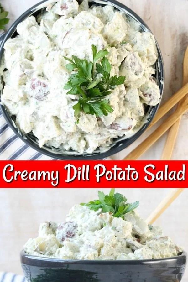 Creamy Dill Potato Salad Recipe Collage