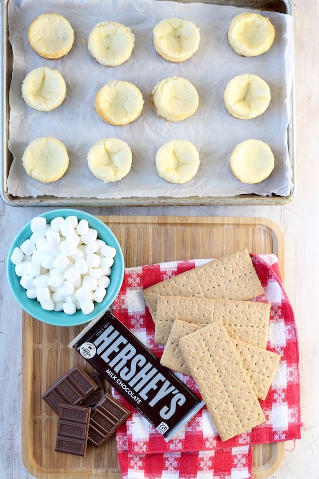 Ingredients for S'mores Cheesecakes