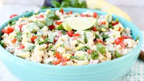 Easy Mexican Street Corn Pasta Salad