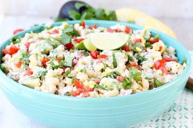 Easy Mexican Street Corn Pasta Salad