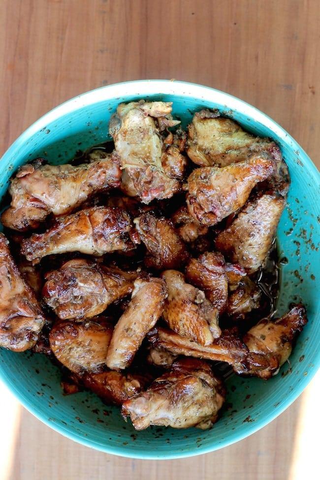 Italian Glaze for Hickory Smoked Chicken WIngs