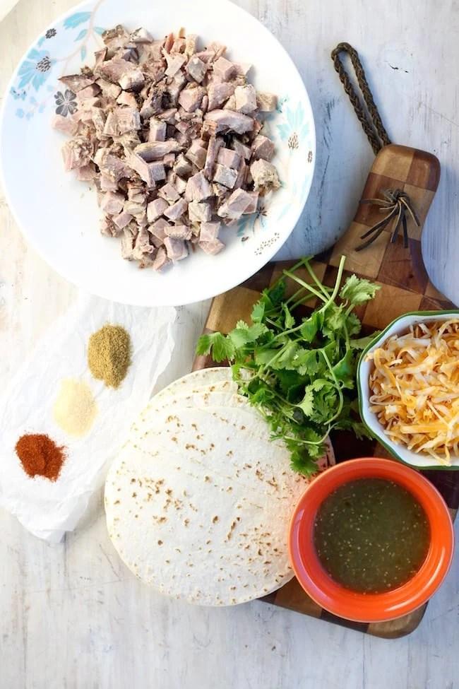 Ingredients for Brisket Taquitos