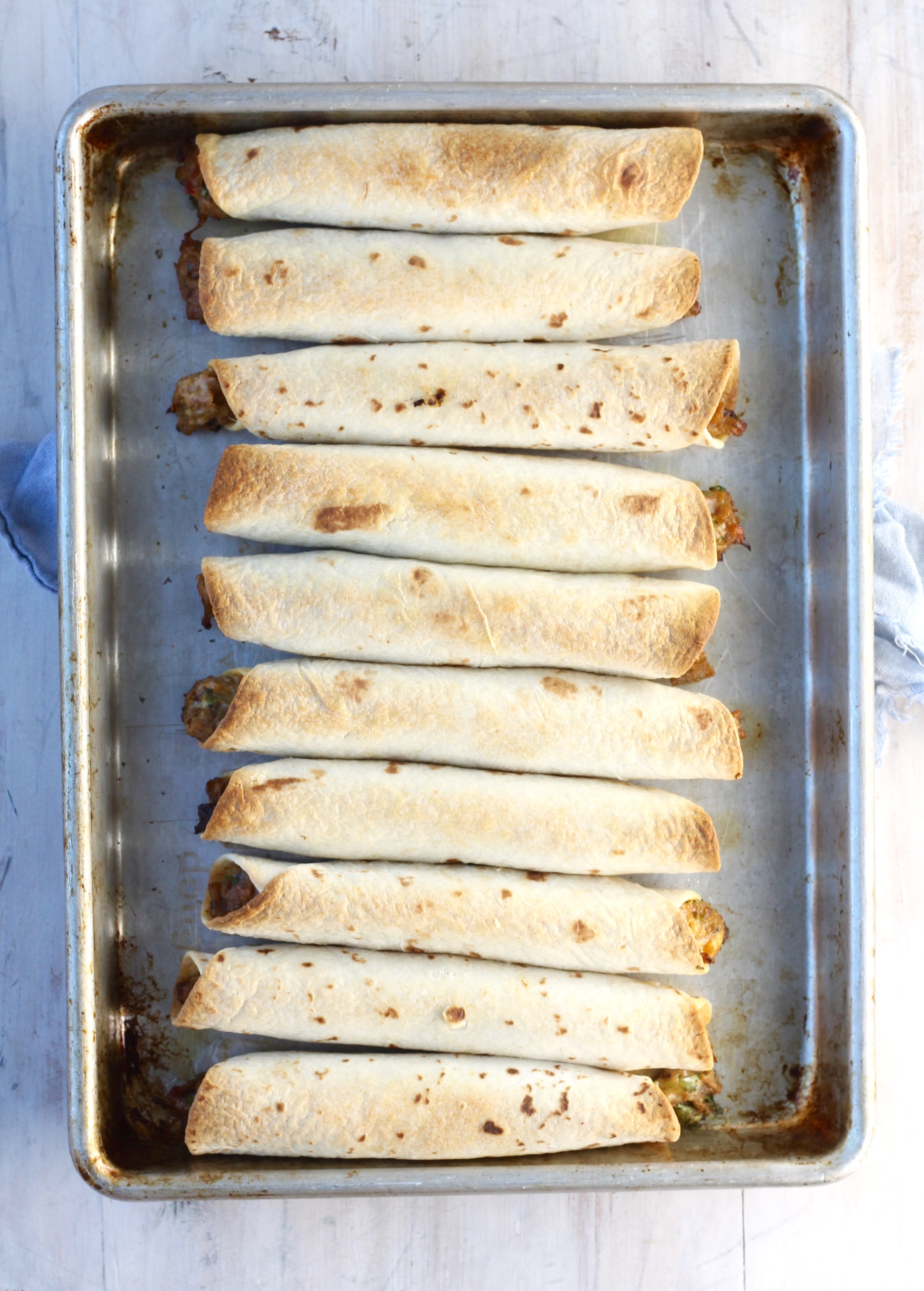 Crispy Baked Brisket Taquitos