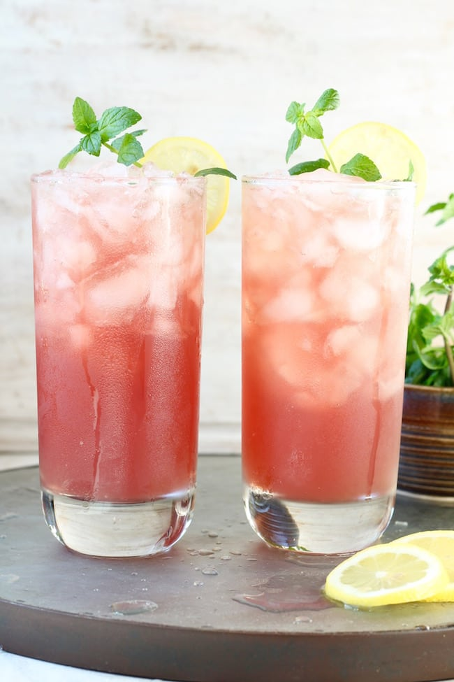 Pomegranate Lemonade punch recipe