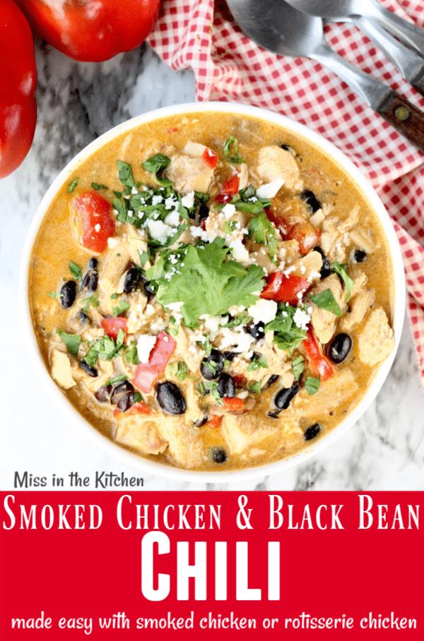 Smoked Chicken and Black Bean Chili Recipe