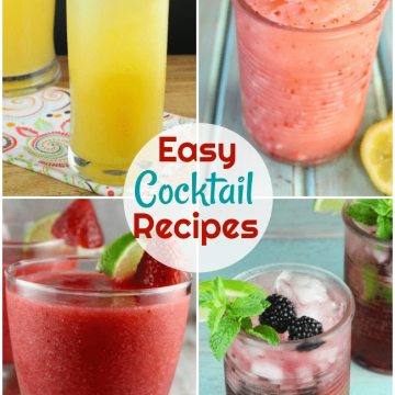 Easy Cocktail Recipes including margaritas, sangria, and rum cocktails