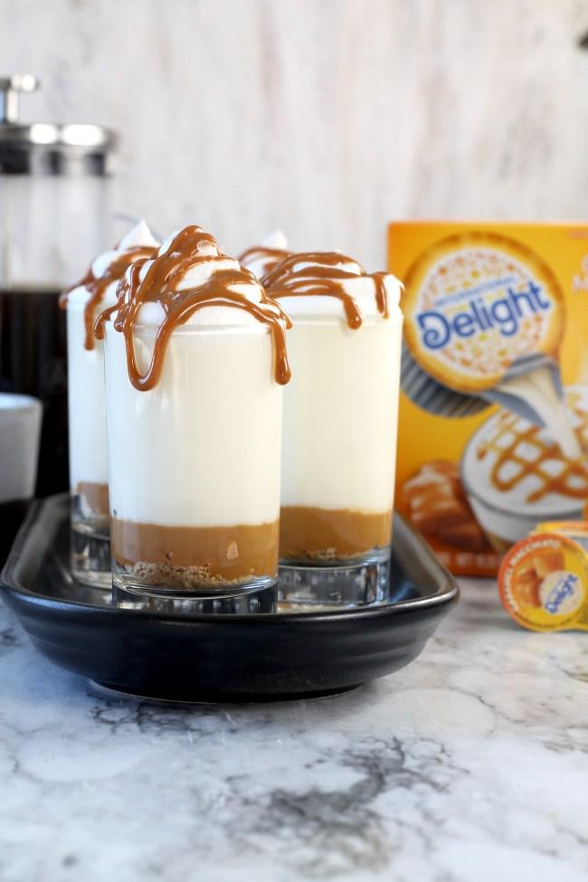 No Bake Caramel Macchiato Cheesecakes International Delight Creamers