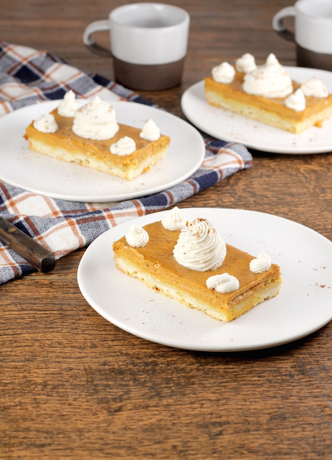 Thanksgiving dessert Pumpkin Pie Bars