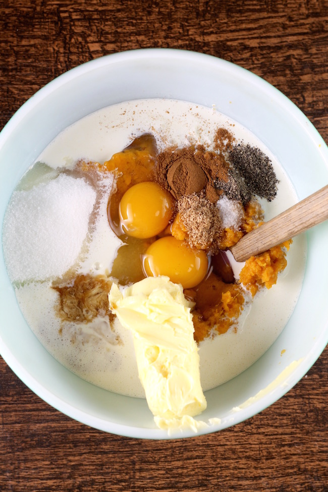 Ingredients for Southern Sweet Potato Pie Filling