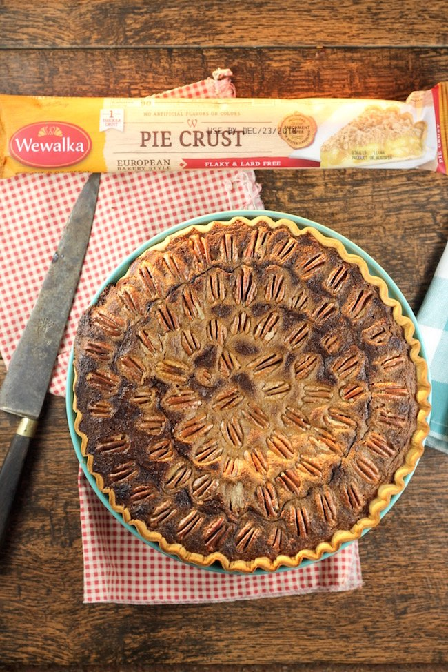 Pumpkin Pecan Pie made with Wewalka Pie Crust