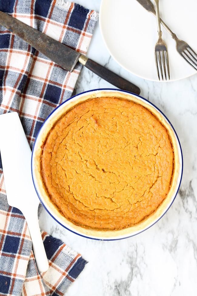 Southern Sweet Potato Pie in Barn Electric Pie Plate