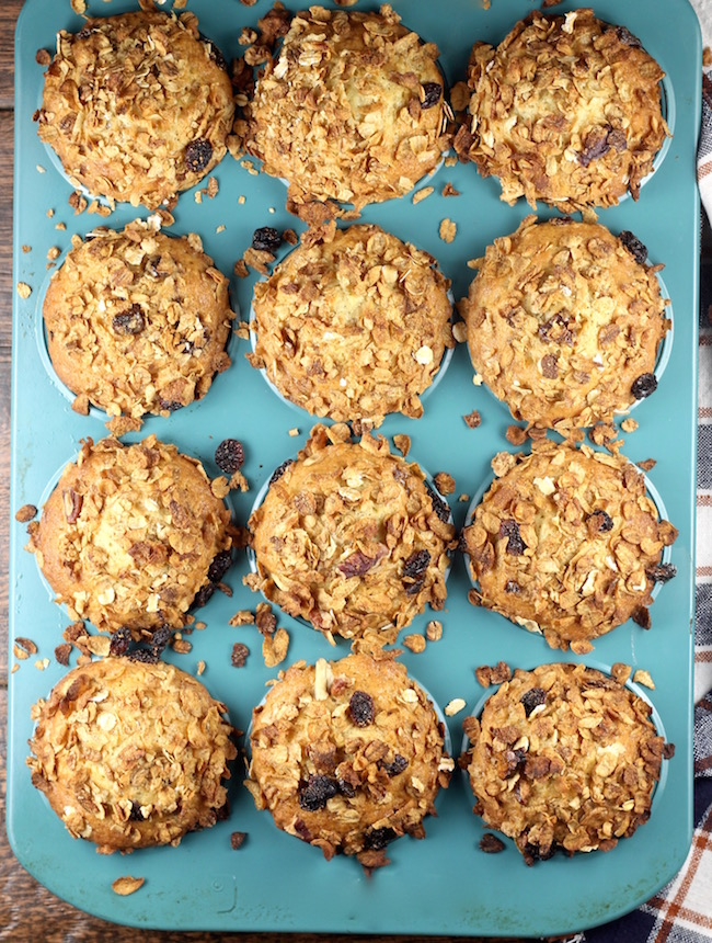 Breakfast Muffins baked with Post Great Grains Cereal