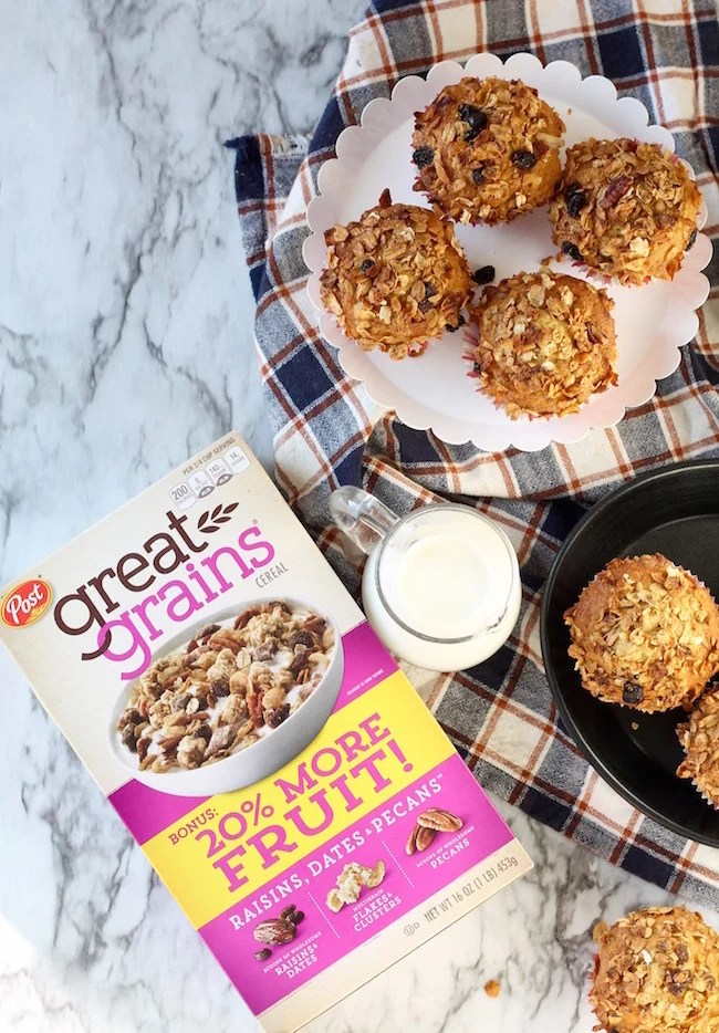 Post Great Grains Cereal Breakfast Muffins