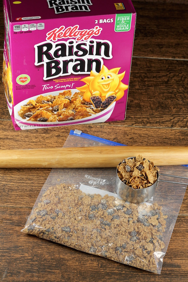 Raisin Bran Cereal for Cinnamon Rolls