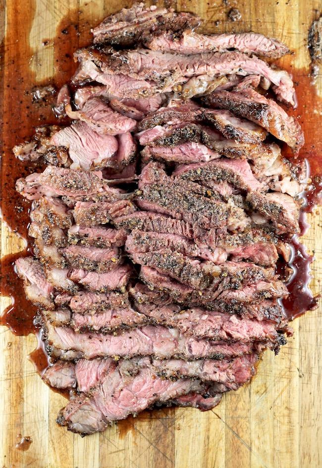 Sliced Smoked Roast Beef for Loaded Potato Skins