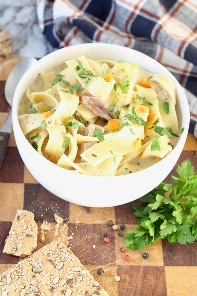 Easy Chicken Noodle Soup with Amish noodles