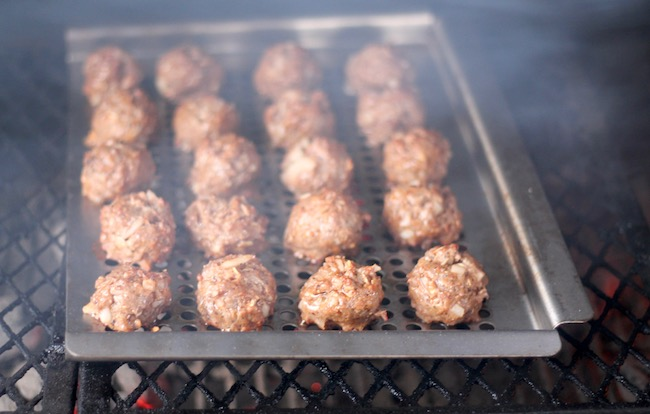 Meatballs on the grill for Barbecue Meat Pies