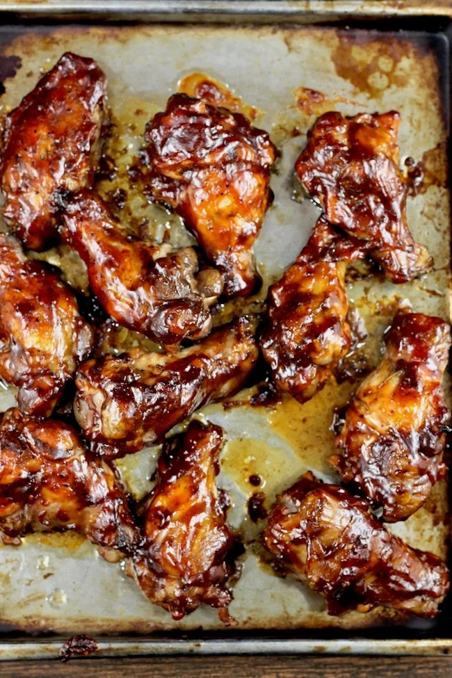 Barbecue Chicken Wings with homemade barbecue sauce