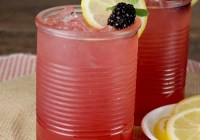 Easy alcoholic party punch ~ Blackberry Lemonade Moscato Punch - large batch cocktail for parties