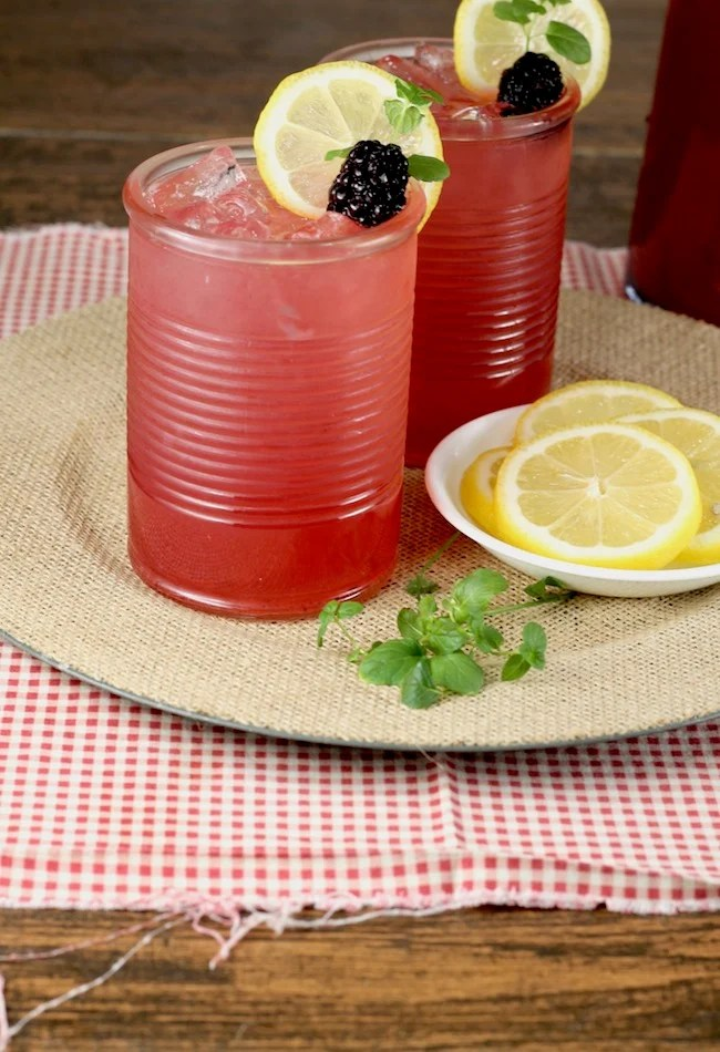 Blackberry Lemonade Moscato Punch easy alcoholic punch