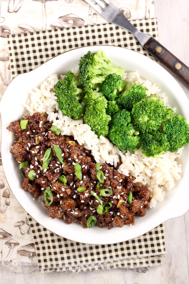 Easy Korean Ground Beef and Broccoli
