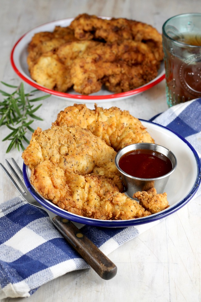 Fried Chicken Strips ~ served with barbecue sauce