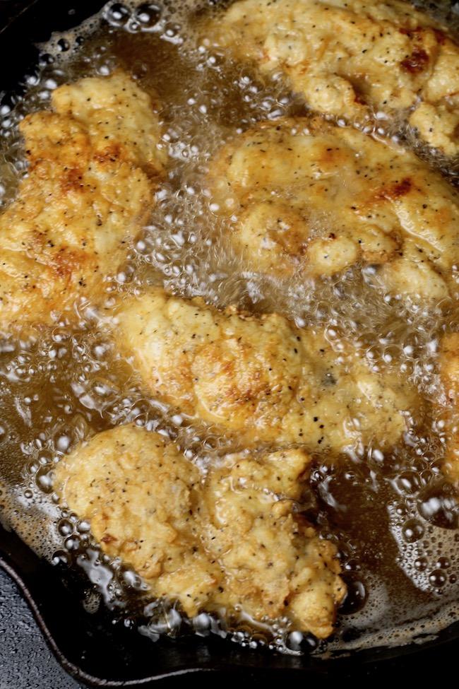 Frying Chicken Strips