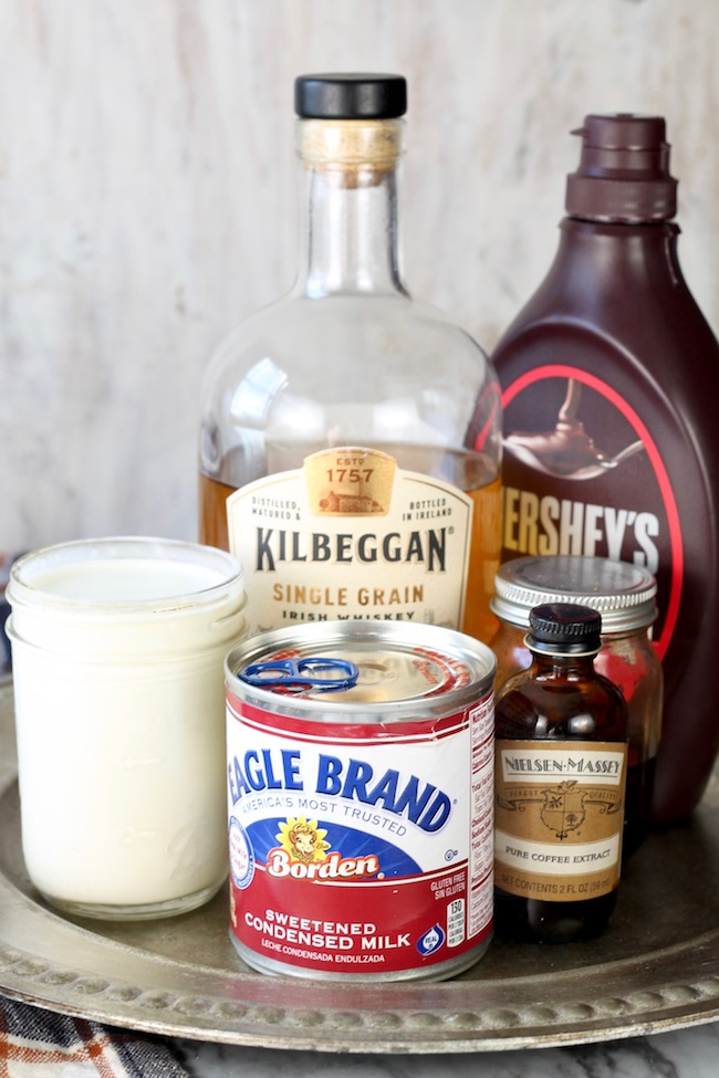 Ingredients for Homemade Bailey's Irish Cream