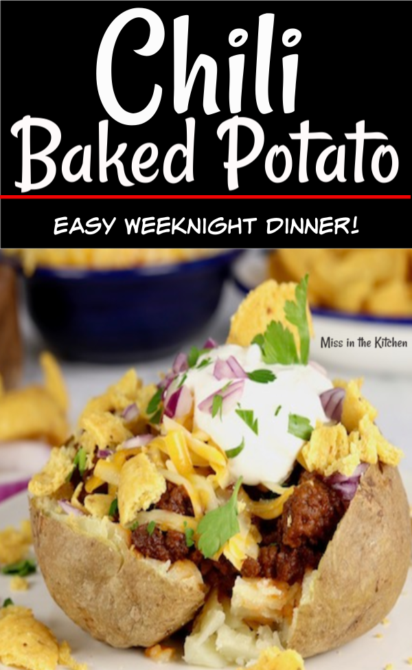 Chili Cheese Baked Potato with