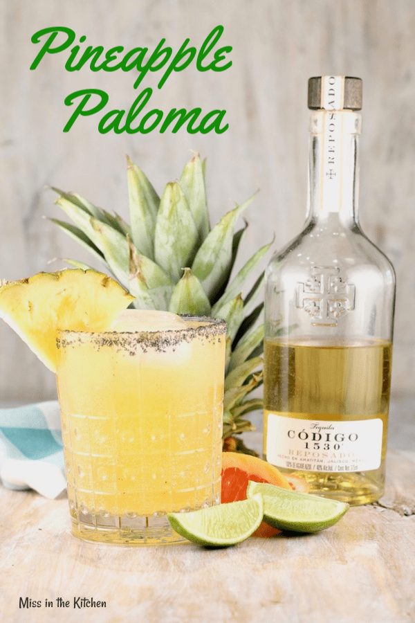 How to Make a Pineapple Paloma Cocktail with tequila