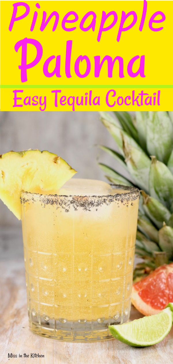 Pineapple Paloma Tequila Cocktail