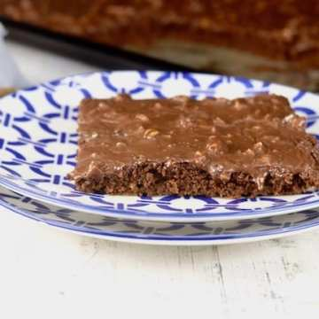 Chocolate Sheet Cake slice