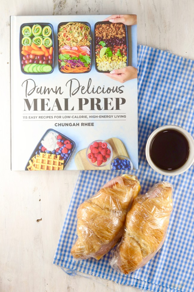 Damn Delicious Meal Prep Cookbook with Freezer Breakfast Croissant Sandwiches