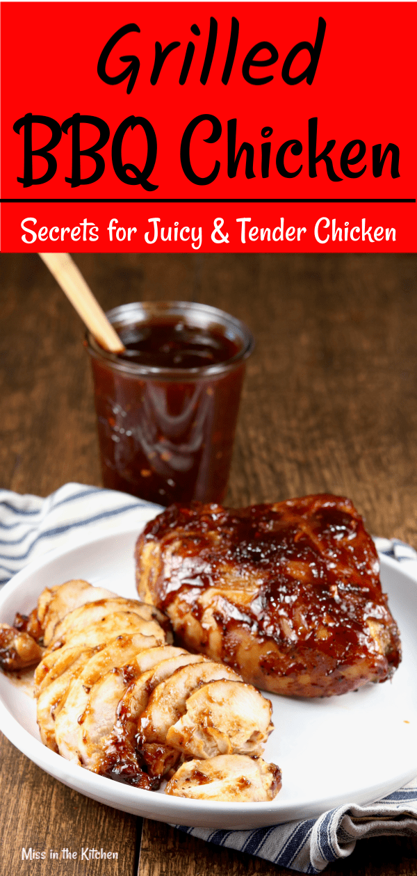 Grilled BBQ Chicken with homemade barbecue sauce
