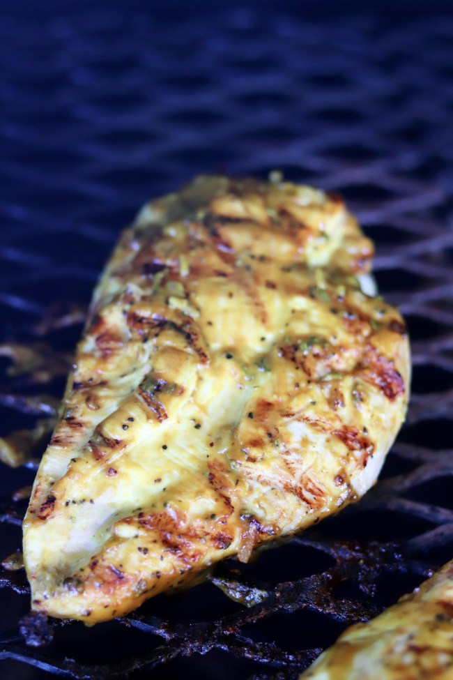 Mustard BBQ Chicken Grilled