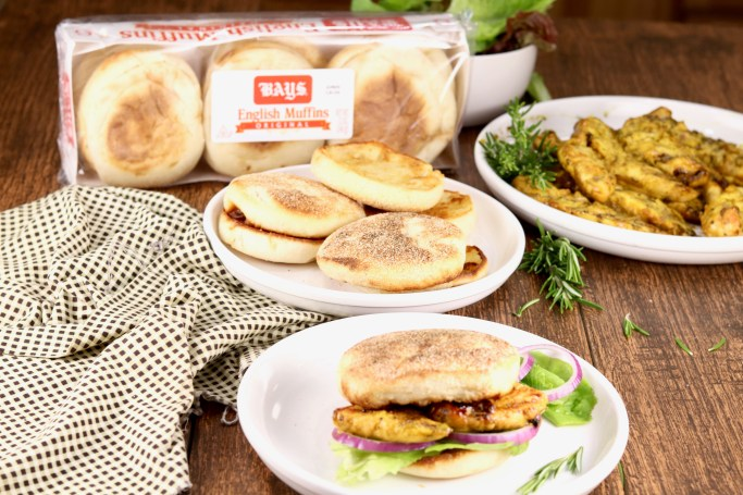 Bays English Muffins made into Grilled Chicken Sandwiches