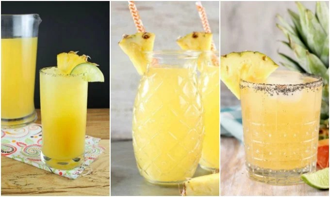 Pineapple Cocktails ~ Pineapple Margaritas, Pineapple Wine Punch, Pineapple Paloma