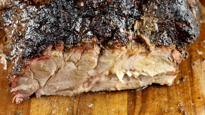 Smoked Pork Butt with Italian Rub