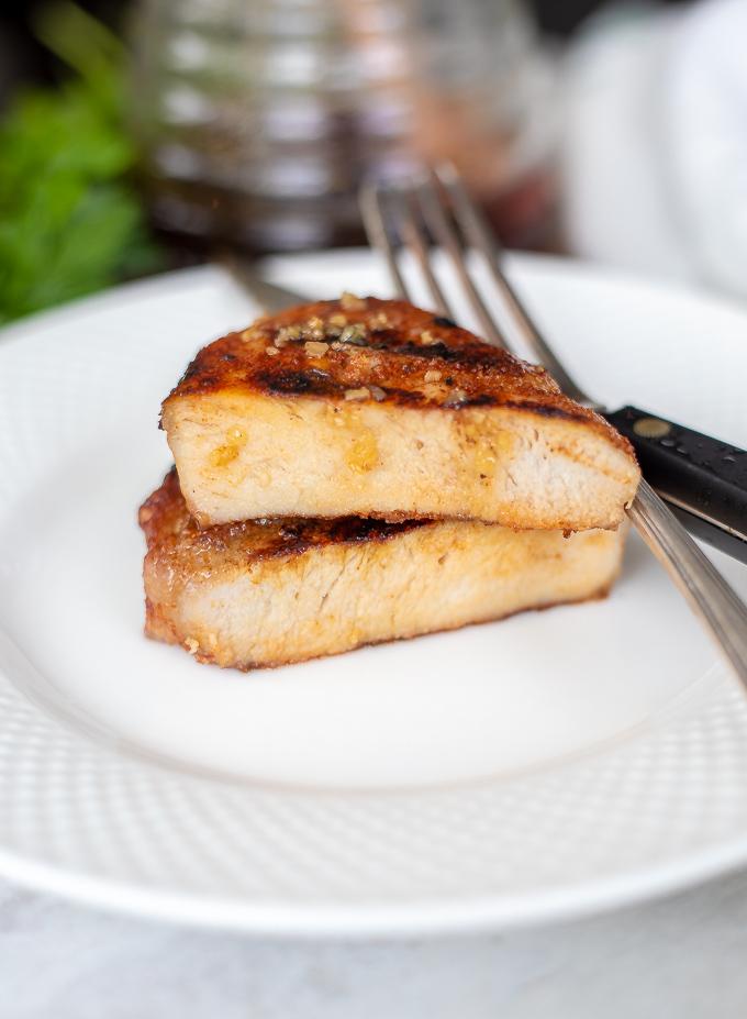 Honey and Garlic Grilled Pork Chops - A Mindful Mom