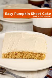 Easy Pumpkin Sheet Cake with icing