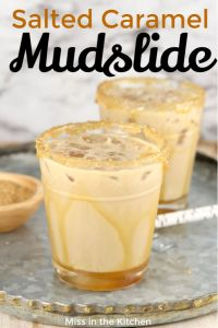 Salted Caramel Mudslide Cocktail