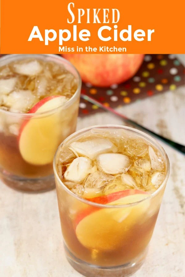 Apple Cider and rum drinks