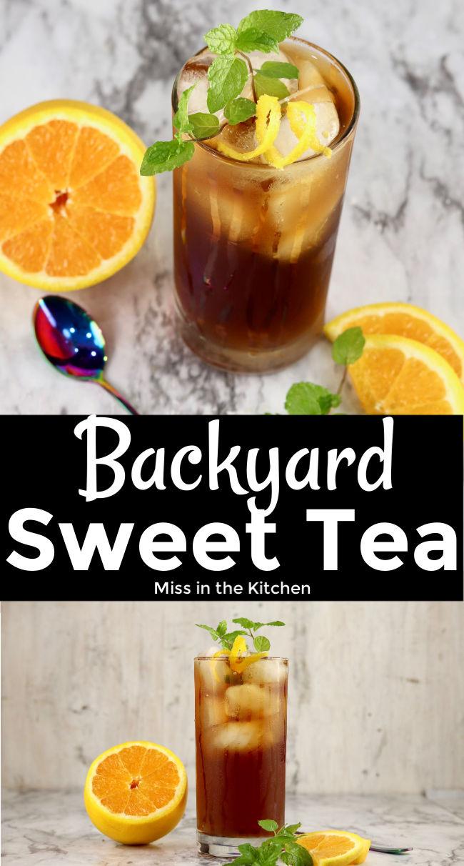 Backyard Sweet Tea Cocktail