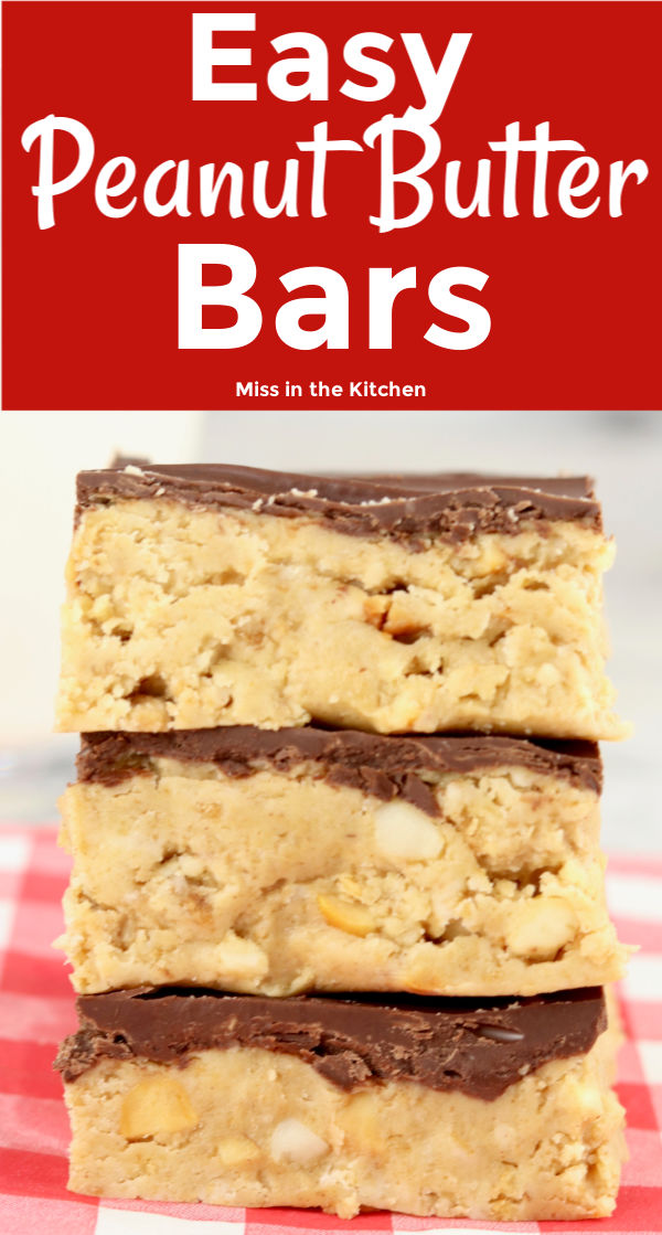 Text overlay of Peanut Butter Bars